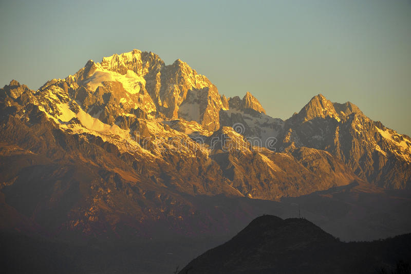 Золотистая гора стоковое изображение
