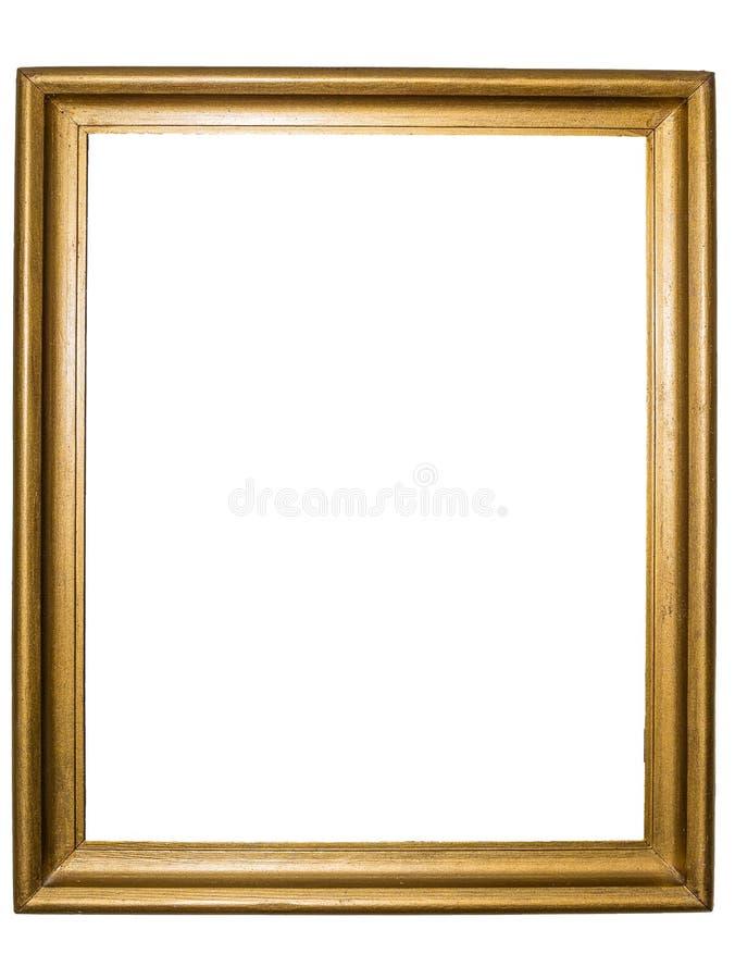 Золотистая деревенская картинная рамка стоковое фото rf