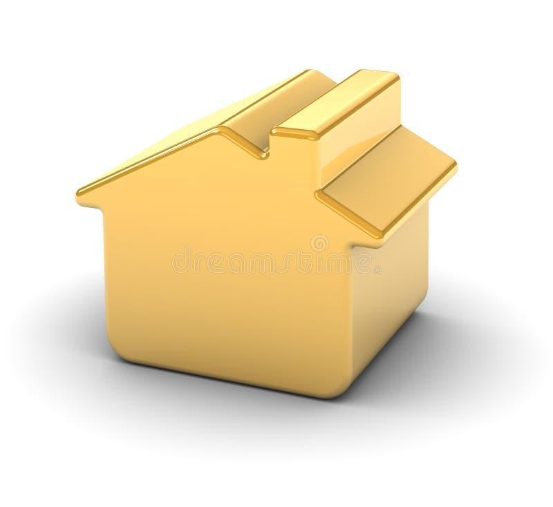 золотистая дом иллюстрация вектора
