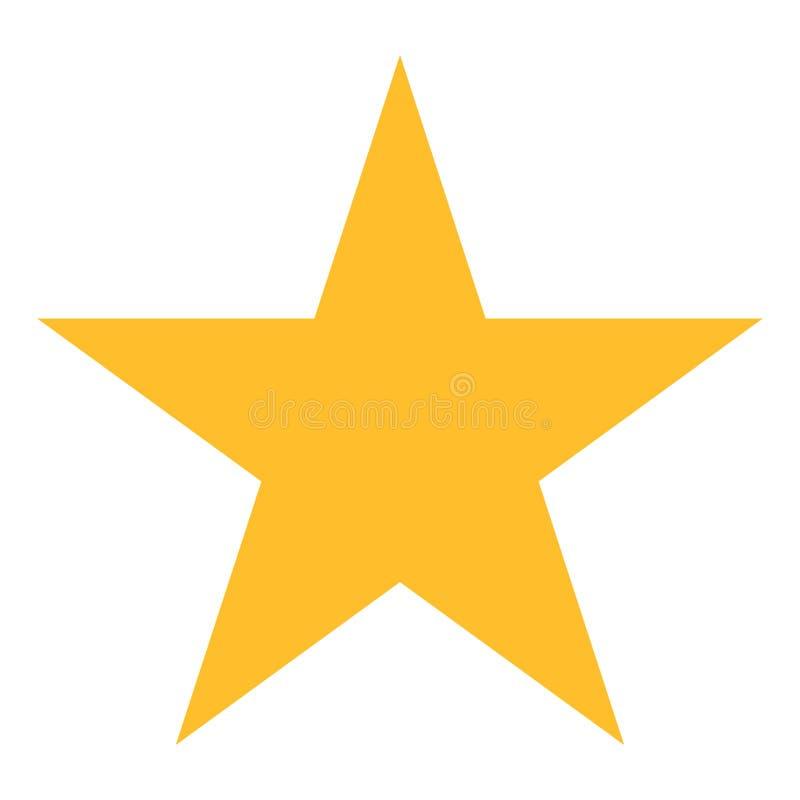 Золотистая звезда на белой предпосылке Значок вектора звезды Желтый любимый символ сети также вектор иллюстрации притяжки corel бесплатная иллюстрация