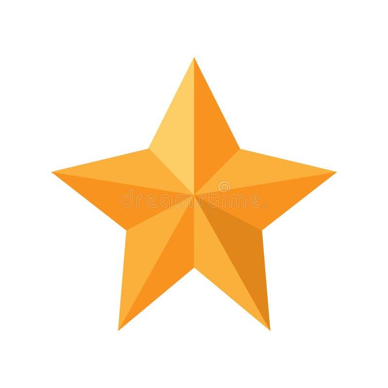 Золотистая звезда рождества изолированная на белой предпосылке также вектор иллюстрации притяжки corel иллюстрация вектора