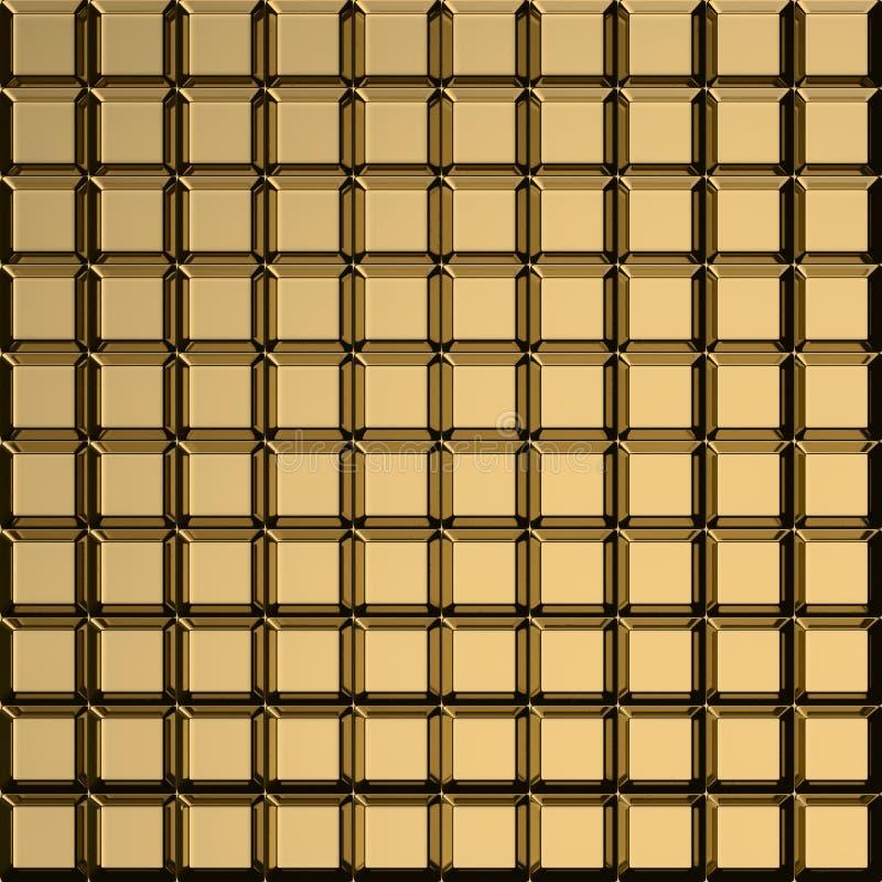 Золотистая квадратная картина иллюстрация вектора