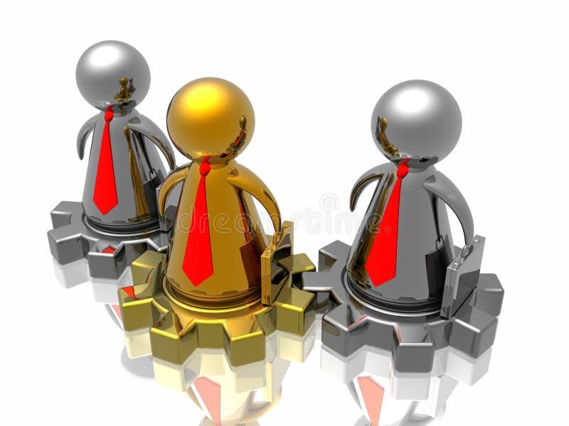золотистая команда руководителя бесплатная иллюстрация
