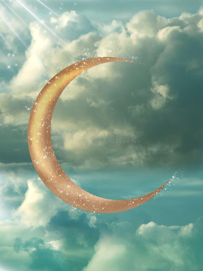 Золотистая луна стоковая фотография