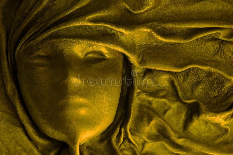 золотистая маска стоковая фотография rf