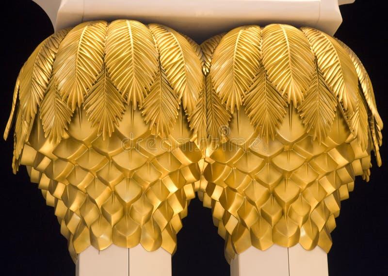 золотистая пальма стоковые изображения rf