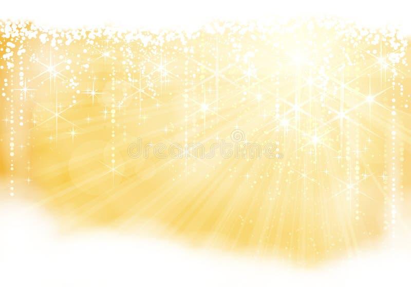 Золотистая предпосылка sparkle иллюстрация вектора