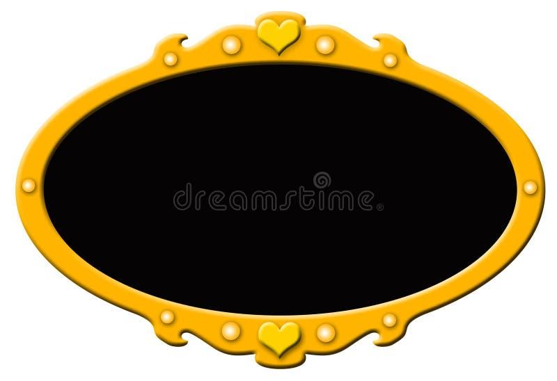 Золотистая рамка с чернотой стоковая фотография