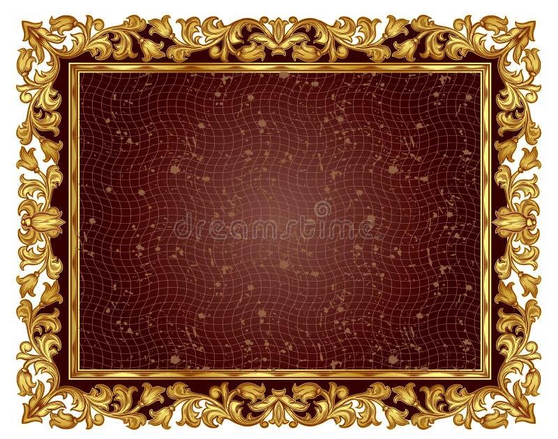 Золотистая рамка иллюстрация штока