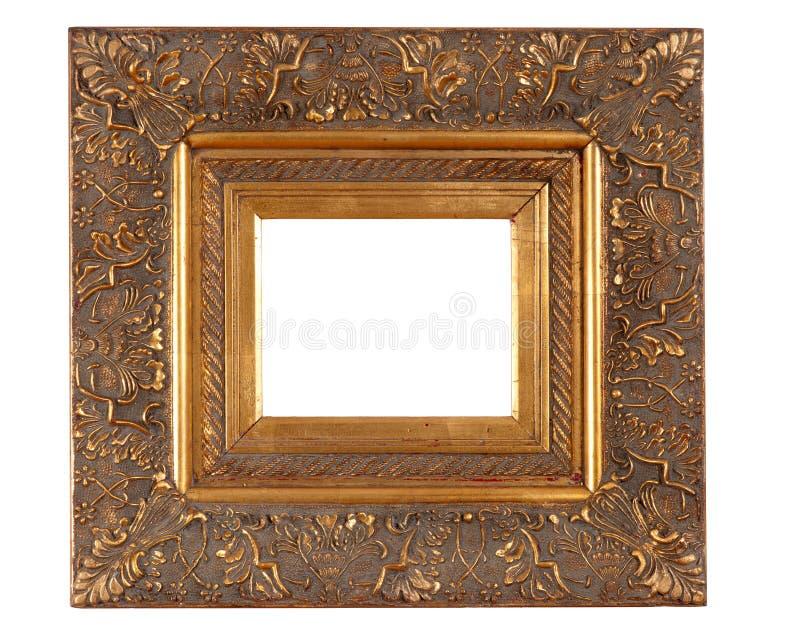 Золотистая толщиная рамка стоковые фотографии rf