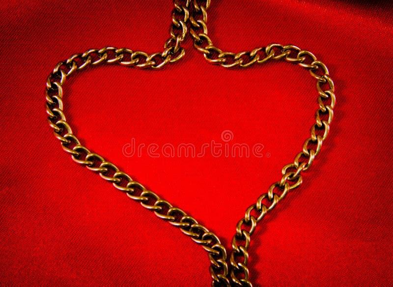Золотистая цепь стоковая фотография