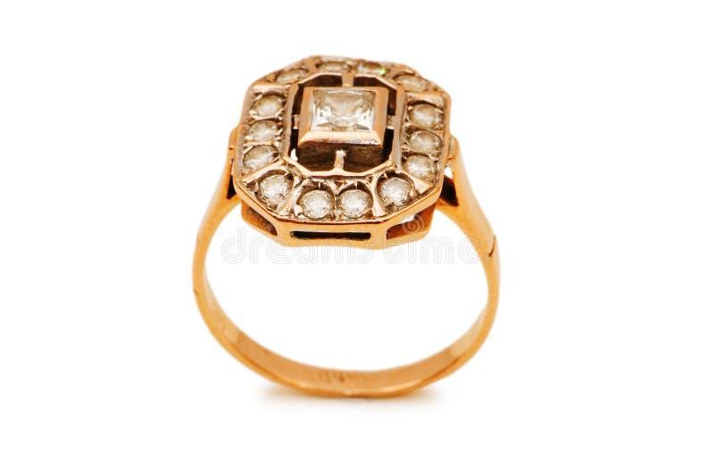 золотистое изолированное кольцо стоковое изображение rf