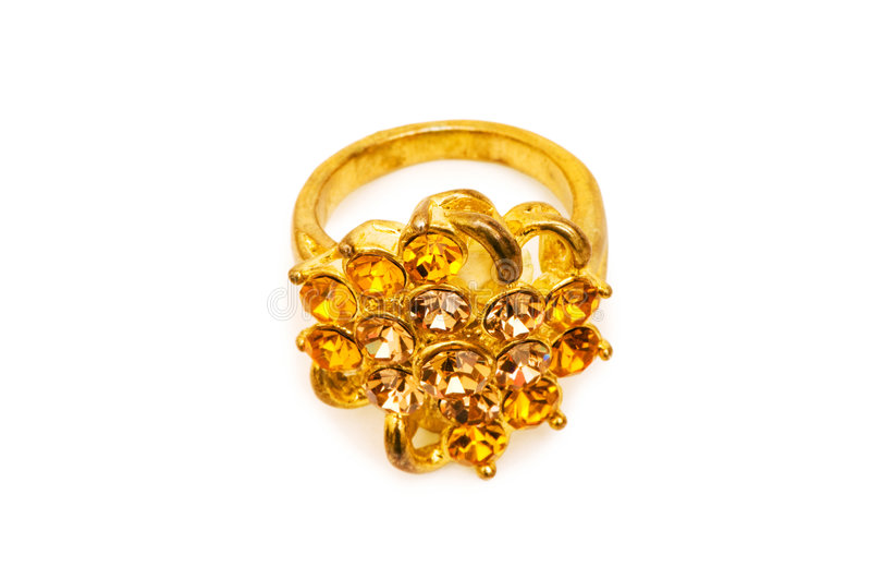 Золотистое изолированное кольцо стоковые изображения rf
