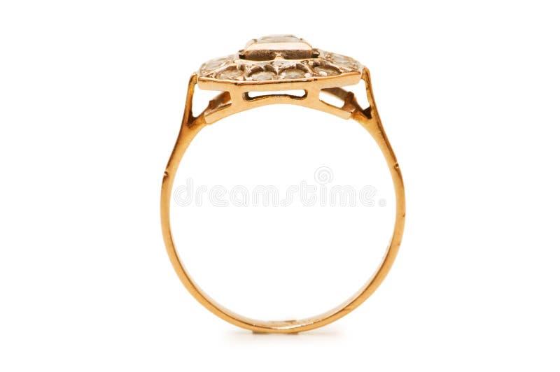 золотистое изолированное кольцо стоковая фотография rf