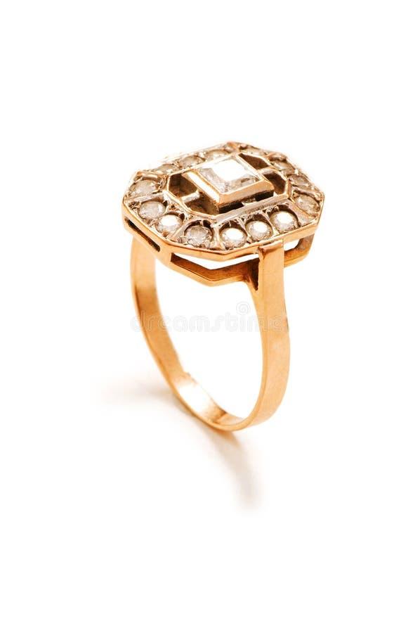 золотистое изолированное кольцо стоковое фото