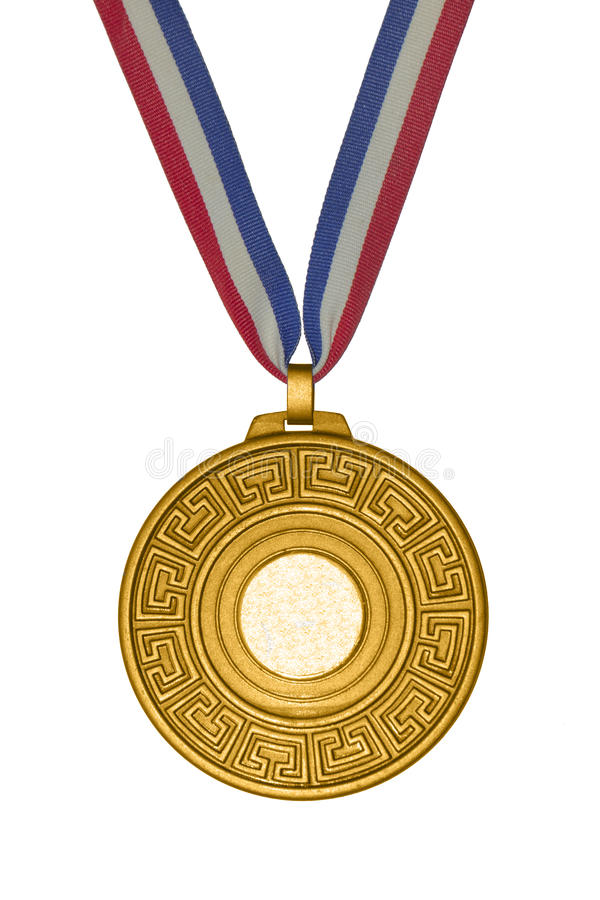 Золотистое медаль стоковое фото