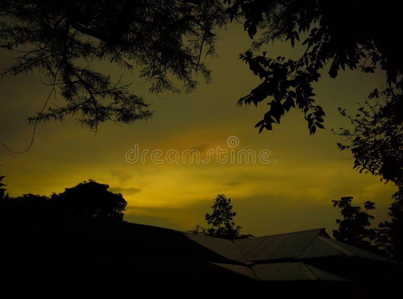золотистое небо стоковое фото rf