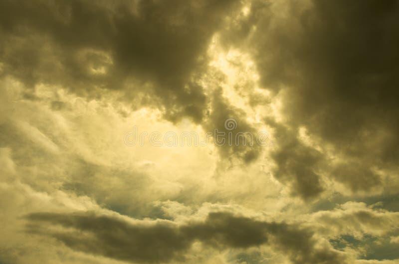 золотистое небо стоковые изображения