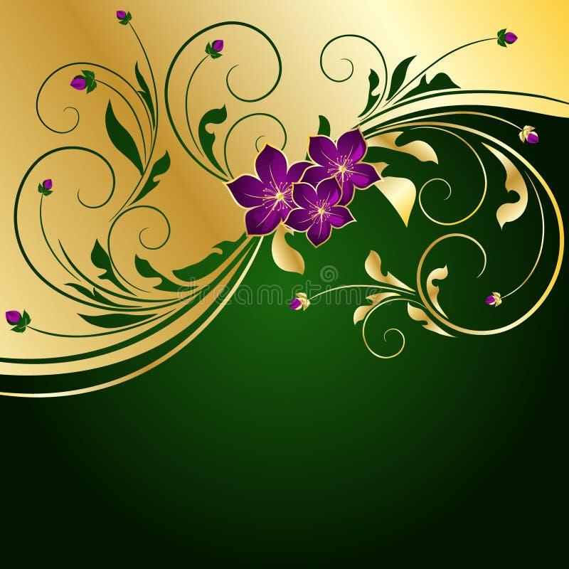 золотистое предпосылки флористическое бесплатная иллюстрация
