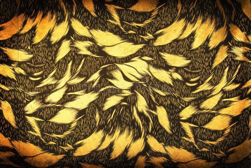 золотистое предпосылки флористическое стоковое фото