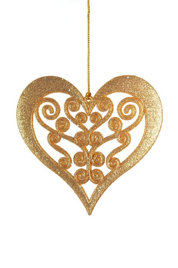 золотистое сердце Стоковая Фотография RF