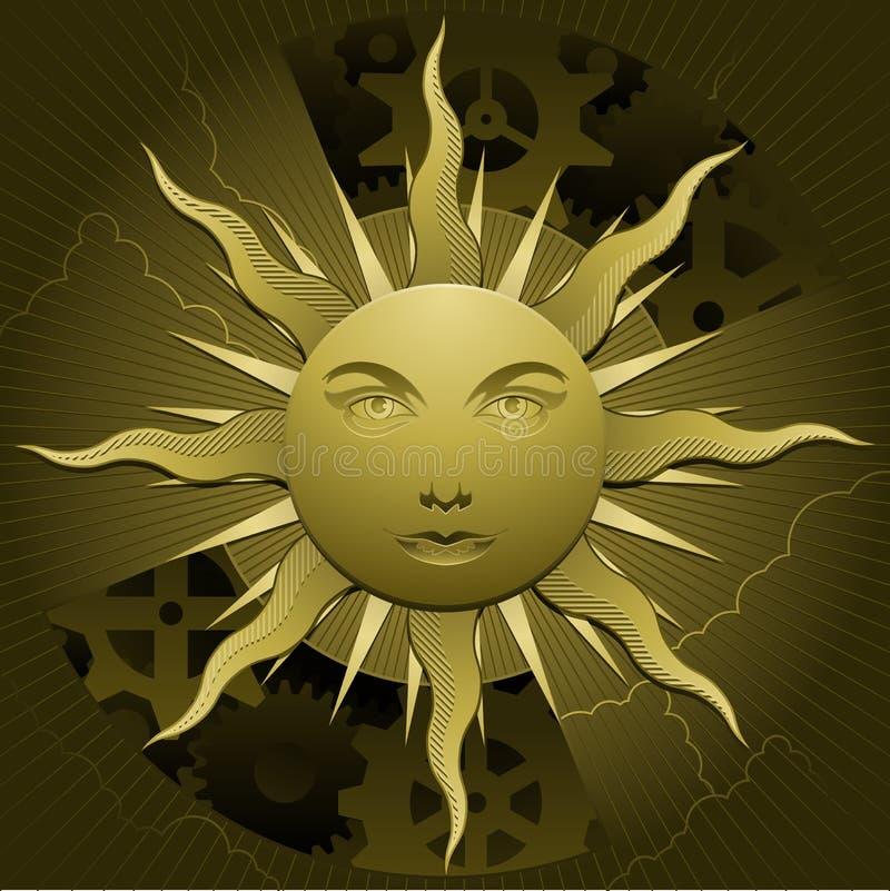 золотистое солнце бесплатная иллюстрация
