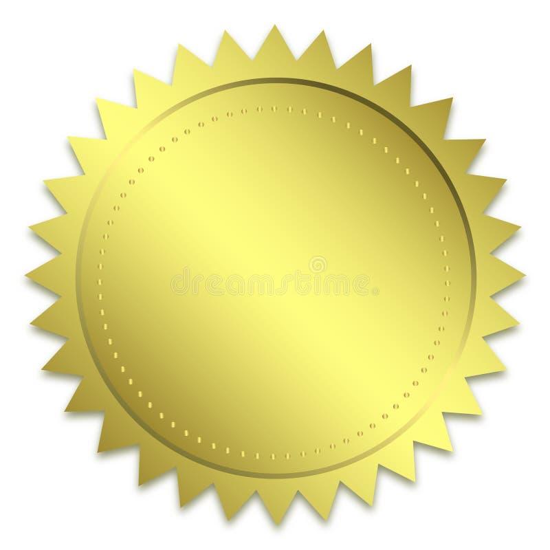 золотистое уплотнение гарантии иллюстрация вектора