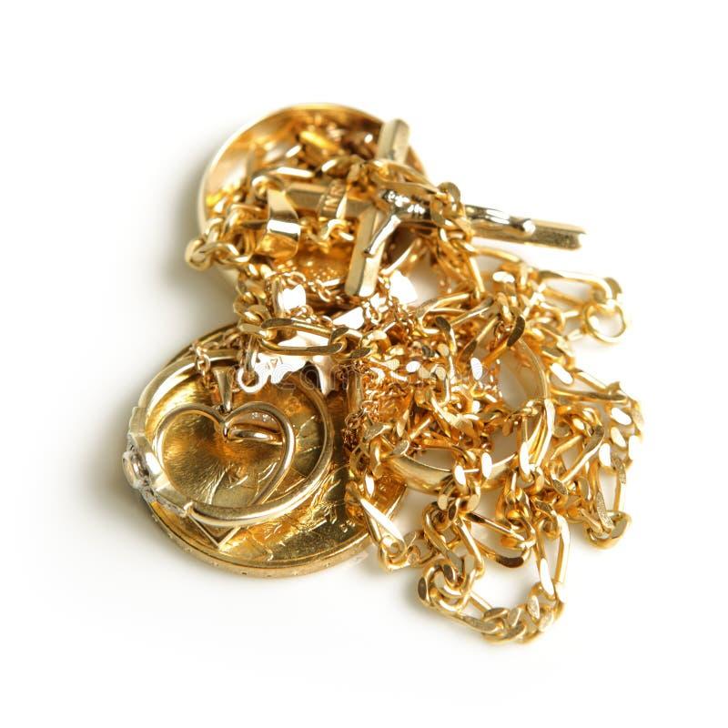 золотистое jewelery стоковые изображения rf