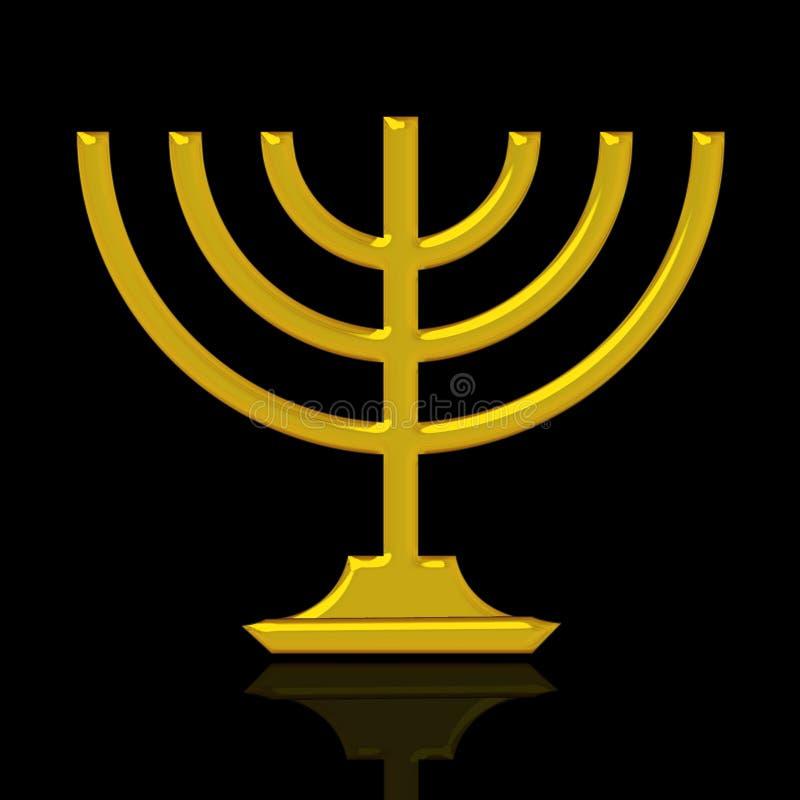золотистое menorah иллюстрация вектора