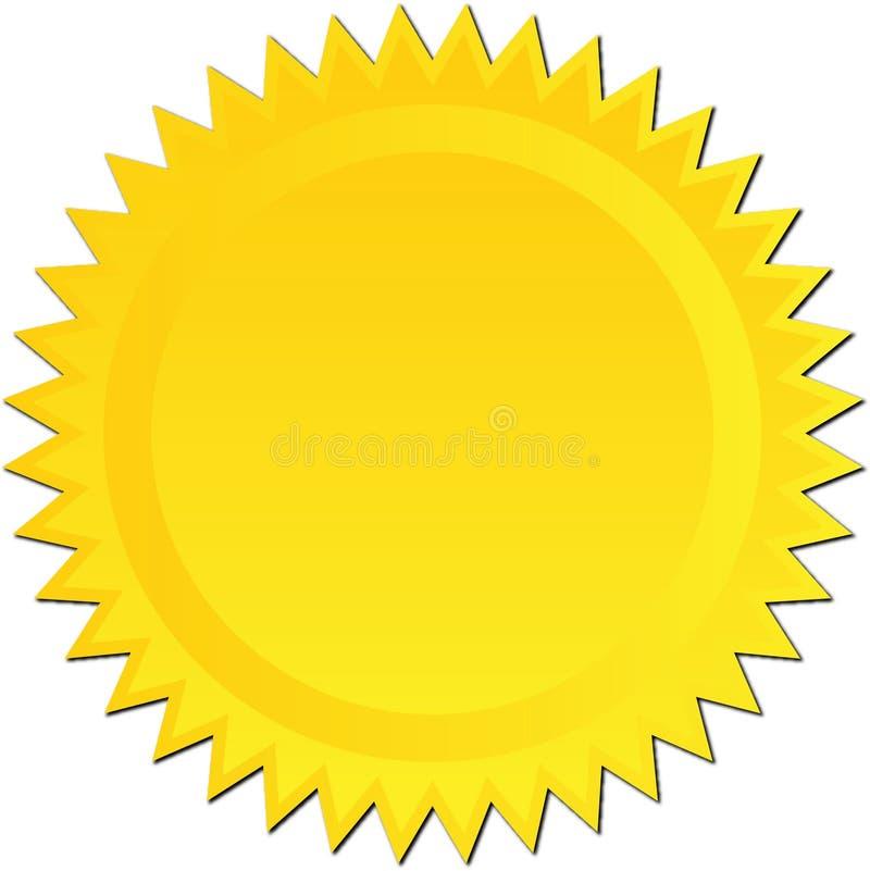 золотистое starburst иллюстрация штока