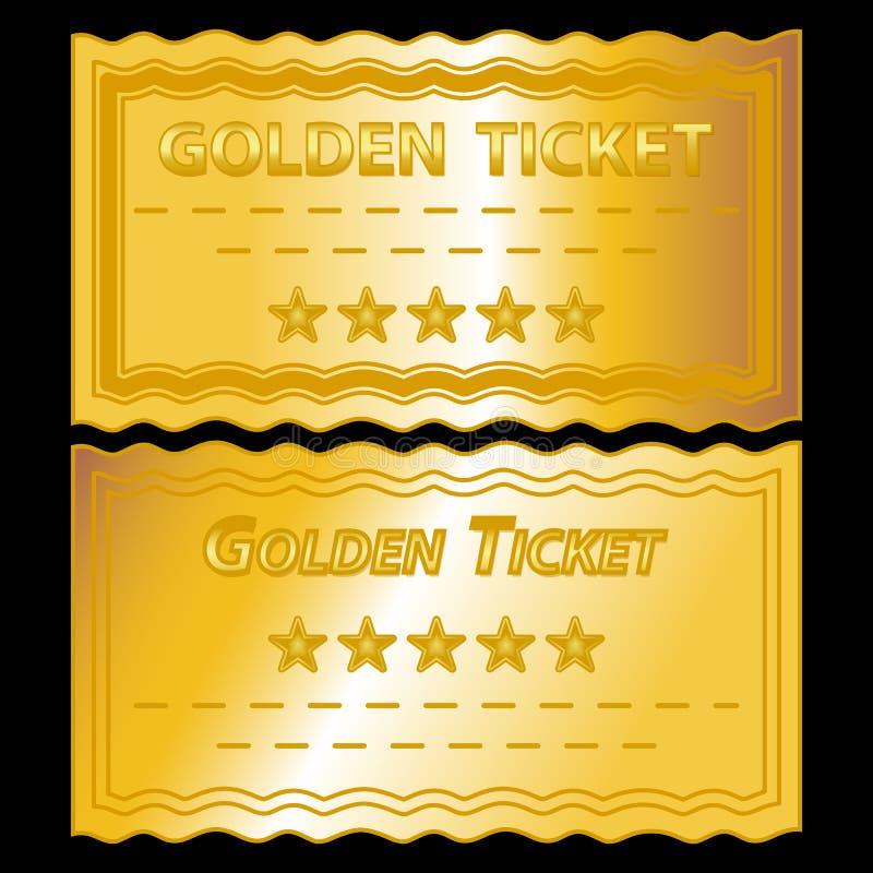 золотистые билеты иллюстрация штока