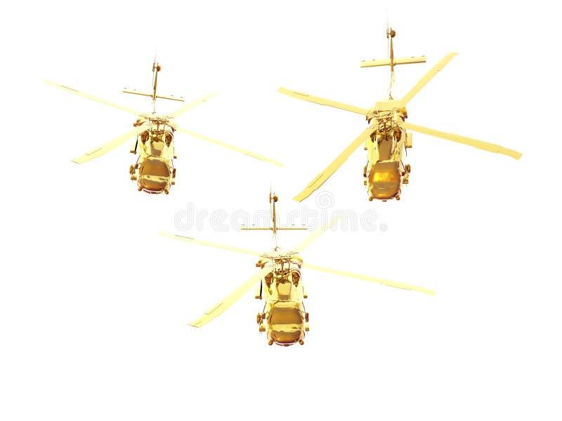 золотистые вертолеты бесплатная иллюстрация