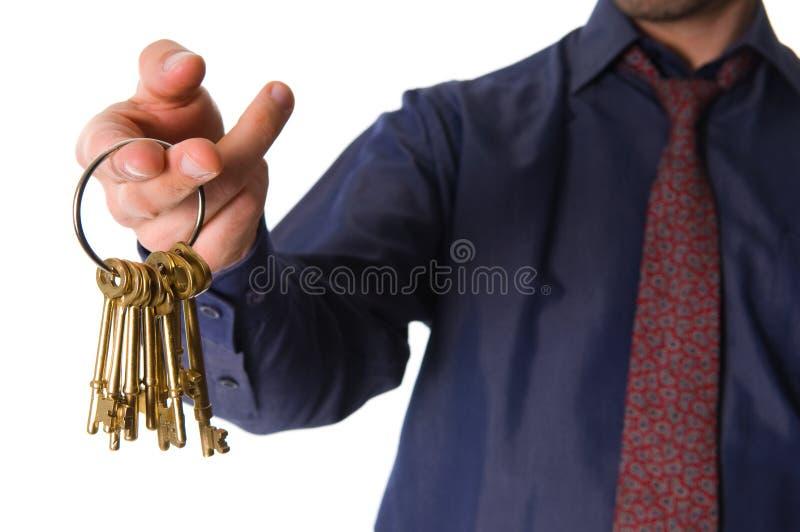 золотистые ключи стоковые фотографии rf