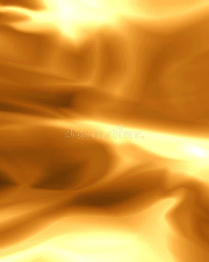 золотистые листы иллюстрация штока