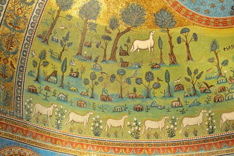 золотистые мозаики стоковое изображение rf