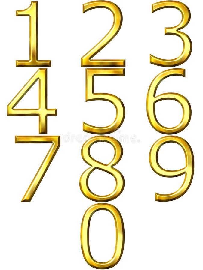 золотистые номера 3d бесплатная иллюстрация