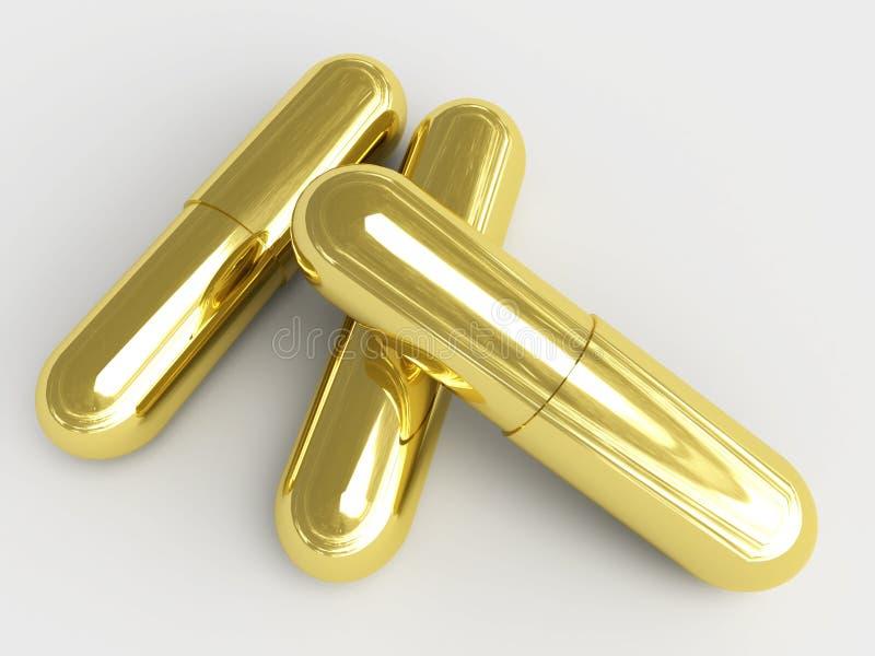 золотистые пилюльки бесплатная иллюстрация
