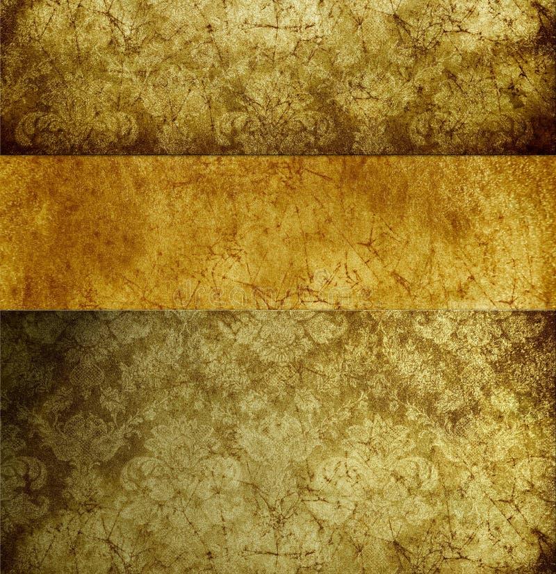 золотистые ретро обои иллюстрация штока