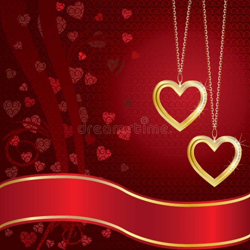 золотистые сердца 2 бесплатная иллюстрация
