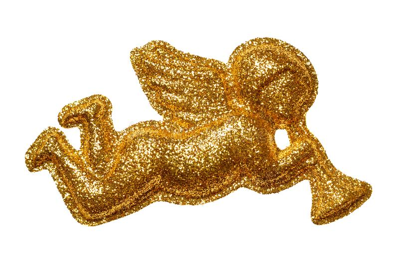 Золотистый ангел стоковые изображения