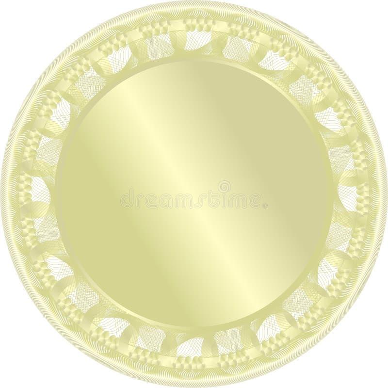 золотистый вектор медали иллюстрация штока
