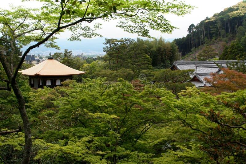 золотистый висок kyoto стоковое фото