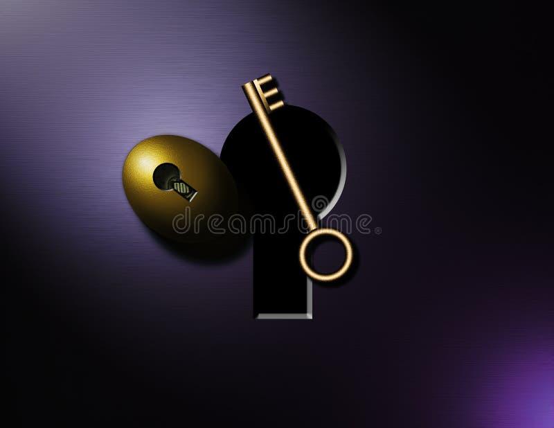 золотистый ключ Стоковые Фотографии RF
