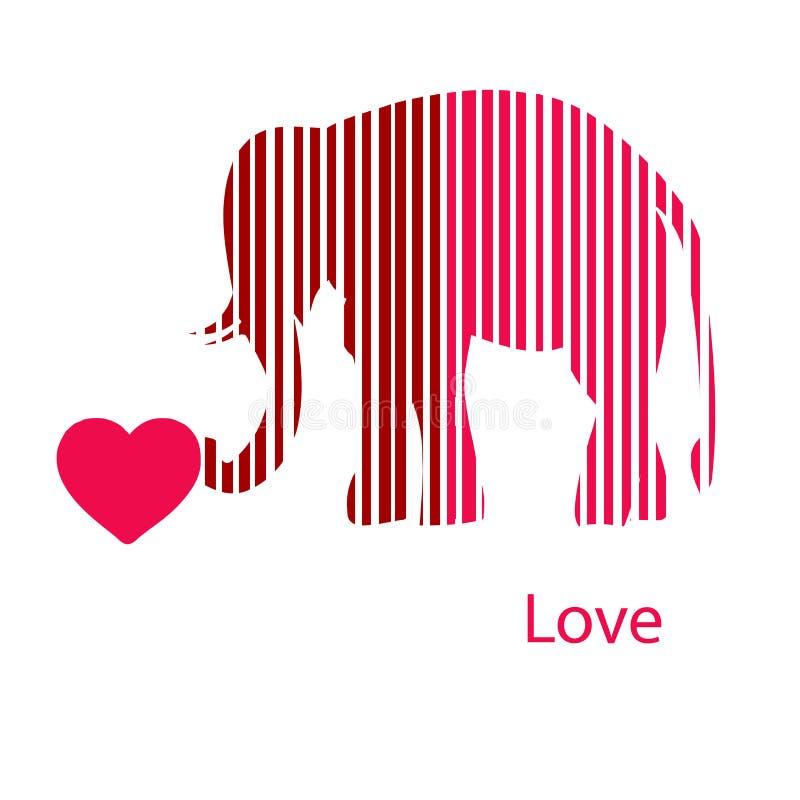 Золотистый обрамленный слон в световых лучах иллюстрация вектора