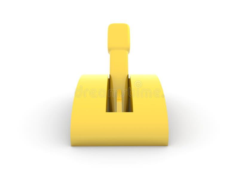 золотистый переключатель иллюстрация вектора