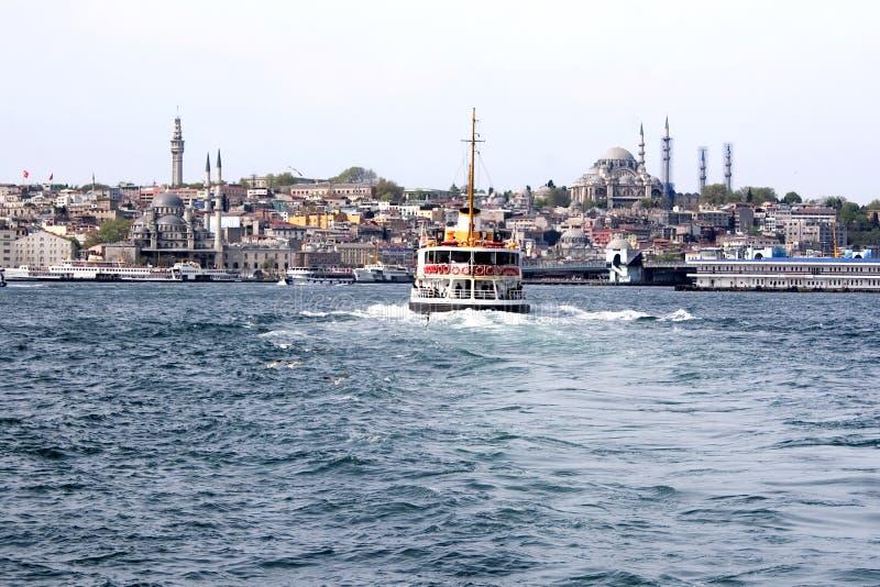 золотистый рожочок istanbul стоковая фотография