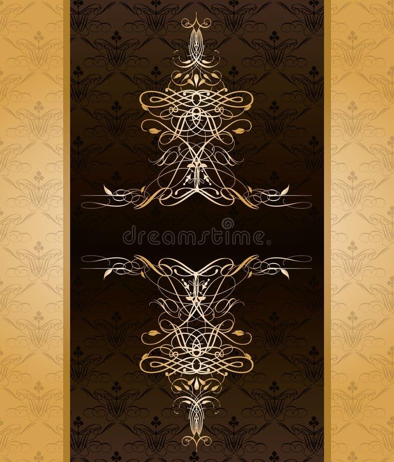 золотистый сбор винограда шаблона бесплатная иллюстрация