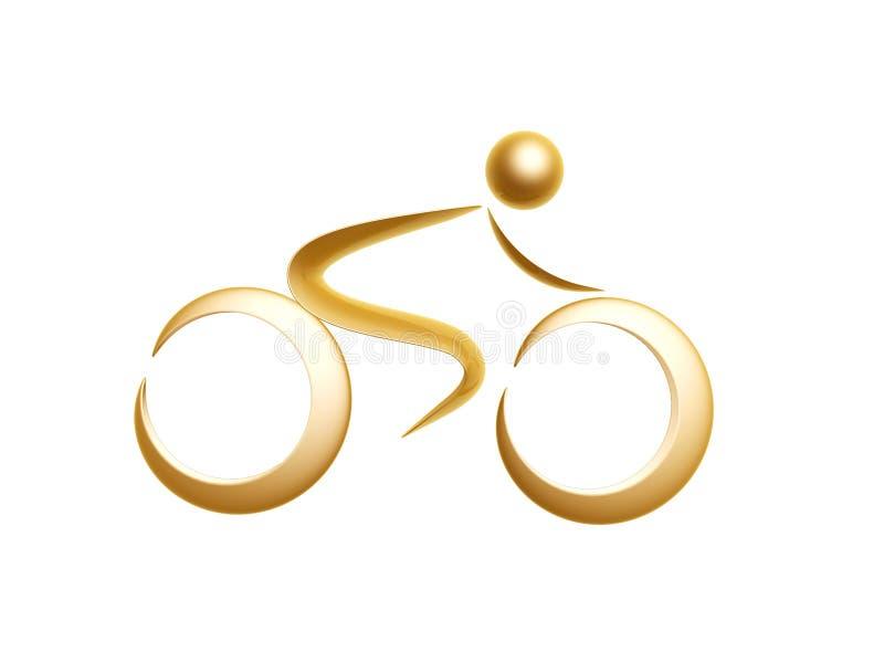 золотистый символ спортов иллюстрация вектора