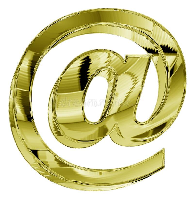 золотистый символ иллюстрация штока
