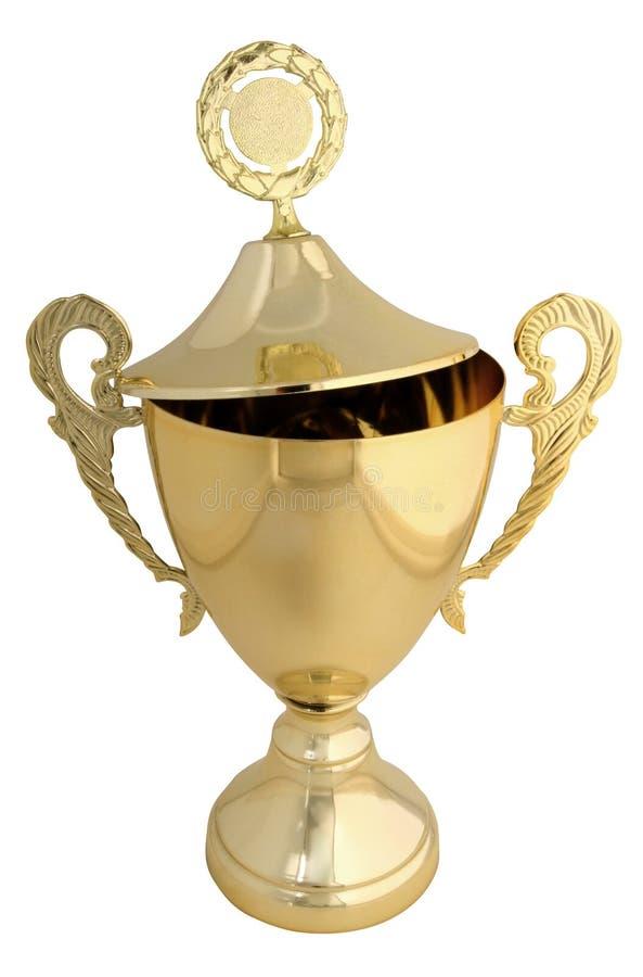 золотистый трофей стоковое изображение
